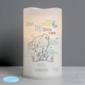 Personalised Tiny Tatty Teddy Dream Big Blue Nightlight LED Candle