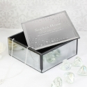 Personalised Diamante Name & Message Glass Trinket Box