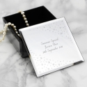 Personalised Any Message Diamante Glass Trinket Box