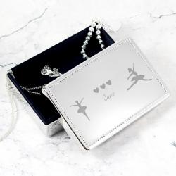 Personalised Ballerina Rectangular Jewellery Box