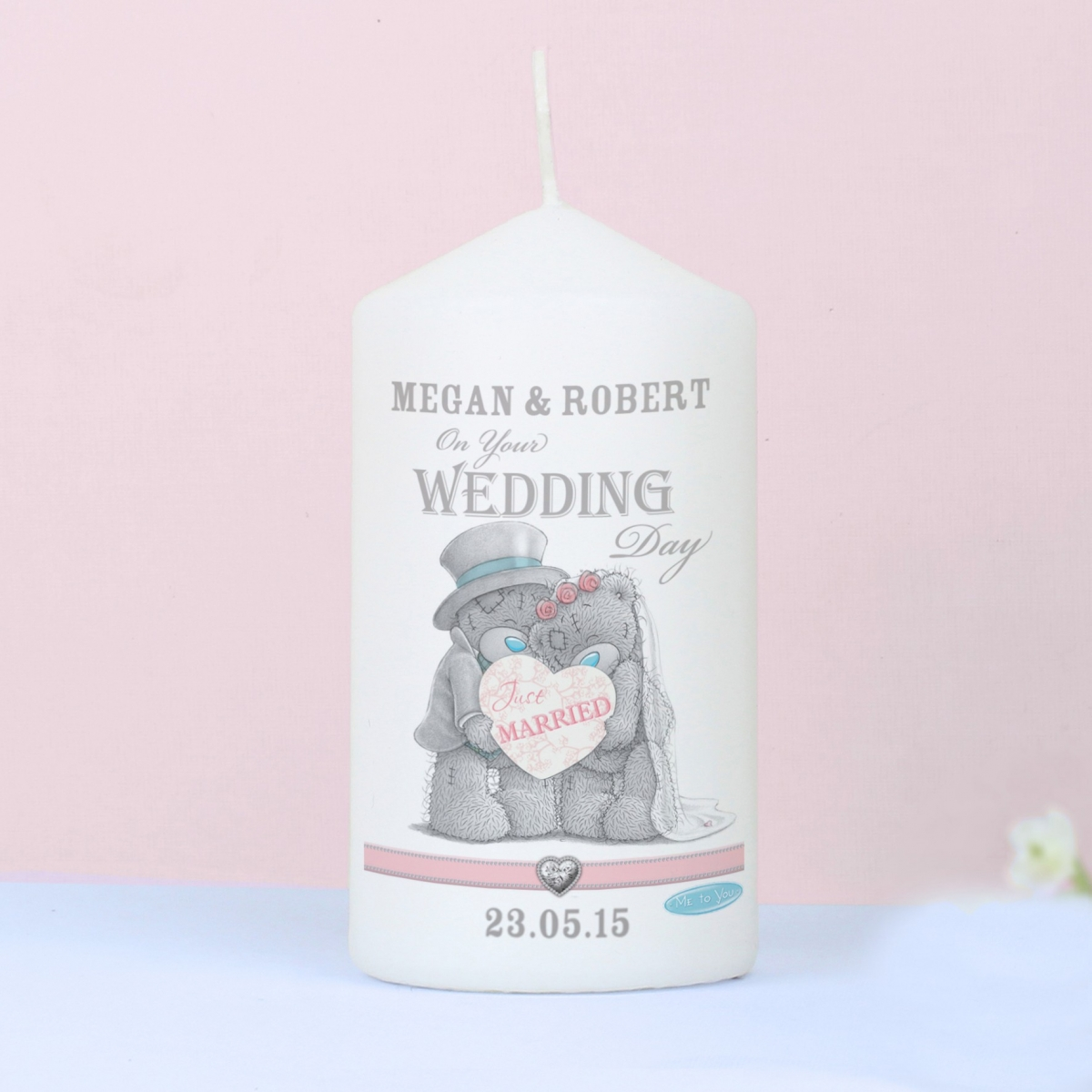 Personalised Me To You Wedding Couple Candle
