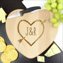 Personalised Wood Carving Heart Chopping Board