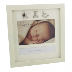 Bambino Keepsake Photo Frame & Hospital Bracelet Display Box