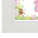 Personalised Animal Name Frame Pink