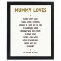 Personalised List of Love Black Framed Poster Print