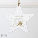 Personalised Boofle Baby Wooden Star Decoration