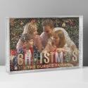 Personalised Christmas 6x4 Glitter Shaker Photo Frame