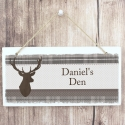 Personalised Highland Stag Wooden Sign Keepsake