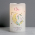 Personalised Baby Unicorn Nightlight LED Candle