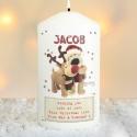 Personalised Boofle Christmas Reindeer Candle