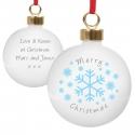 Personalised Snowflakes Bauble and Keepsake