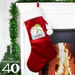 Personalised The Snowman and the Snowdog Luxury Christmas Stocking