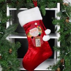 Personalised Santa Claus Luxury Christmas Stocking