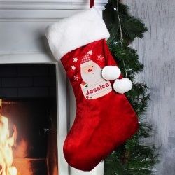 Personalised Pocket Santa Luxury Christmas Stocking and Keepsake