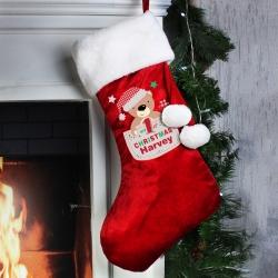 Personalised Pocket Teddy My 1st Christmas Luxury Stocking & Keepsake