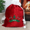 Personalised Nordic Christmas Luxury Pom Pom Sack & Keepsake