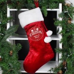 Personalised Christmas Wishes Luxury Stocking & Keepsake