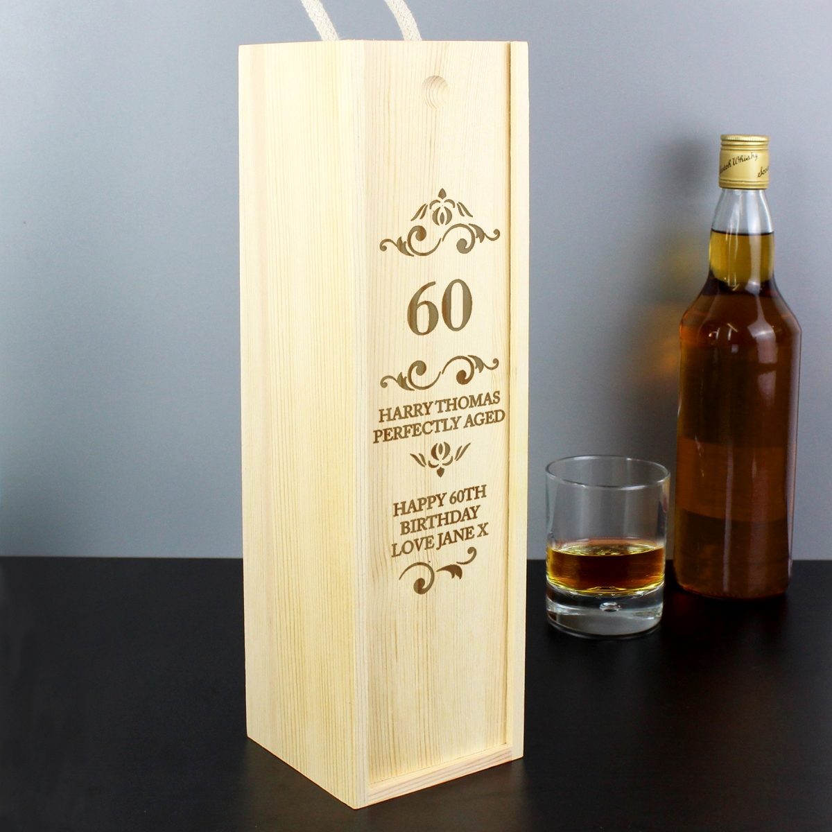 Personalised Elegant Number Bottle Presentation Box