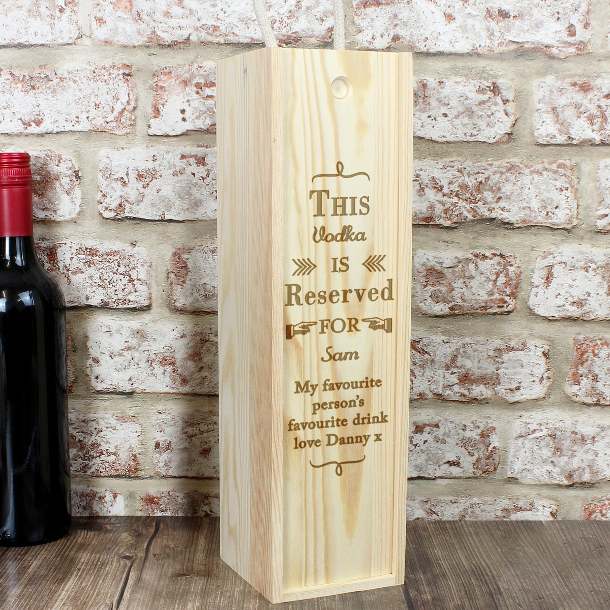 Personalised Reserved For Bottle Presentation Box