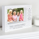 Personalised Family 7x5 Box Photo Frame