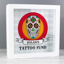 Personalised Sugar Skull Fund and Keepsake Box