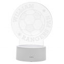Personalised Football LED Colour Changing Desk Night Light
