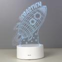 Personalised Rocket LED Colour Changing Wireframe Night Light
