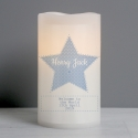 Personalised Stitch & Dot Baby Boy Nightlight LED Candle