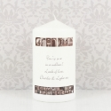 Personalised Affection Art Any Message Candle