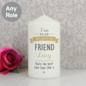 Personalised I Am Glad... Candle
