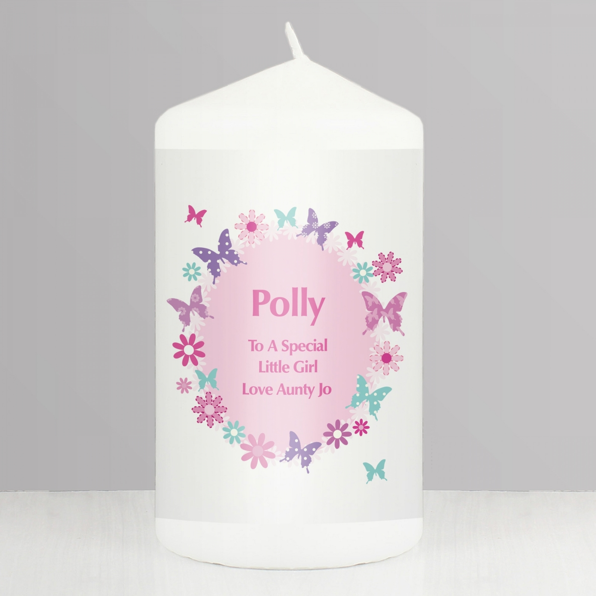 Personalised Butterfly Candle