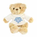 Personalised Blue Teddy Message Bear