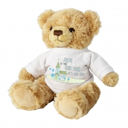 Personalised Blue Church Message Bear with T-Shirt