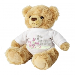 Personalised Pink Church Message Bear