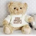 Personalised Cream Teddy Message Bear
