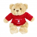 Personalised Love Heart Jumper Message Bear