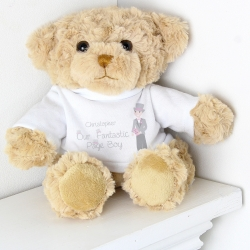 Personalised Fabulous Page Boy Message Bear