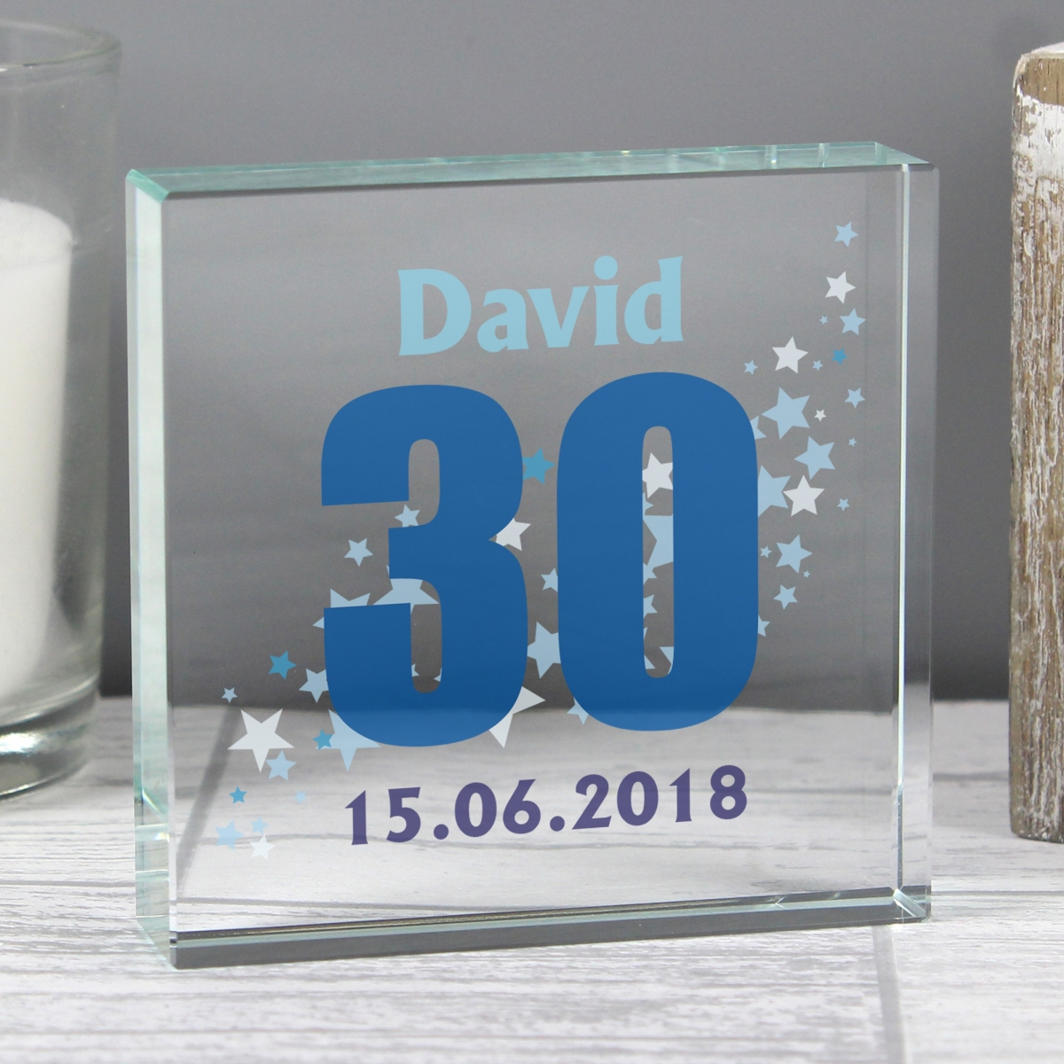 Personalised Stars Age Large Crystal Token