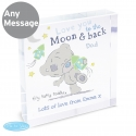 Personalised Tiny Tatty Teddy To the Moon & Back Large Crystal Token