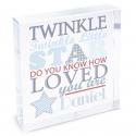 Personalised Twinkle Boys Large Crystal Token