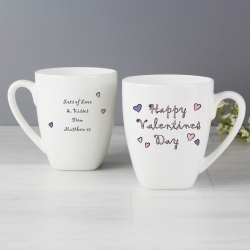 Personalised Happy Valentine's Day Latte Mug