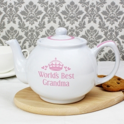 Personalised Pink 'Worlds Best' Teapot