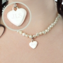 Personalised White Freshwater Pearl Initial Necklace