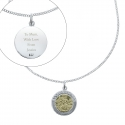 Personalised Sterling Silver and 9ct Gold St. Christopher Necklace