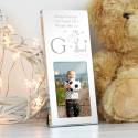 Personalised Hessian Giraffe Small Silver 2x3 Frame