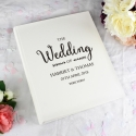 Personalised Rustic Wedding Traditional Album