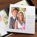 Personalised Mr & Mrs Photo Frame Album 4x6