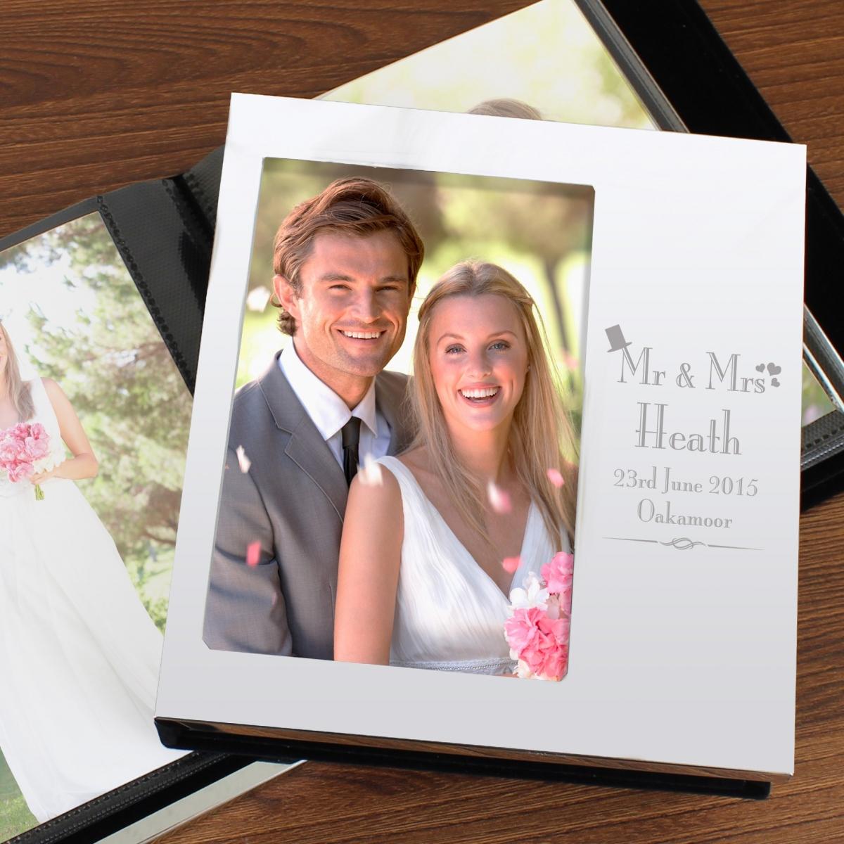Personalised Decorative Wedding Photo Frame Album 4x6