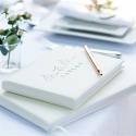 Ivory Mr & Mrs Wedding Guest Book