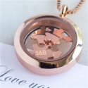 Rose Gold 'Love You To Pieces' Necklace